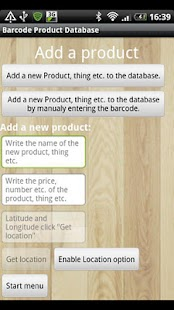 Barcode Product Database - screenshot thumbnail