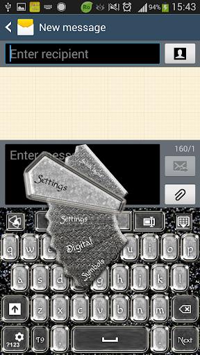 GO Keyboard Silver Glamour