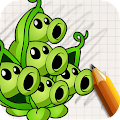 Art Drawings: Plant and Zombie