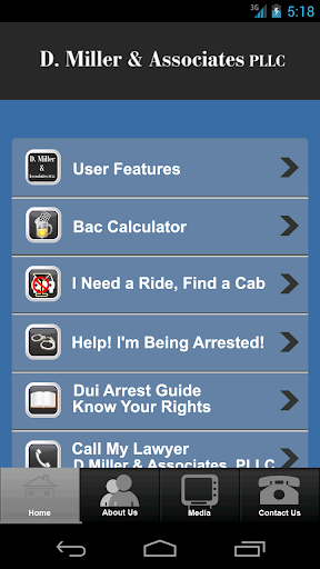 DWI app by D. Miller Law
