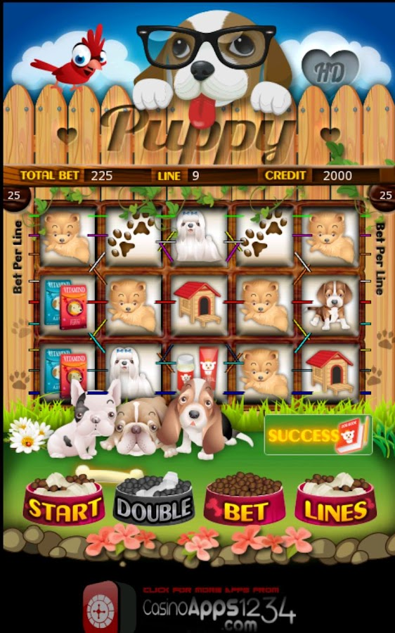 Cute Puppy Slot Machine HD - screenshot