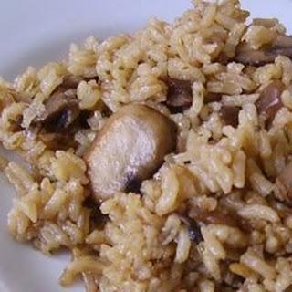 Easy Mushroom Rice.