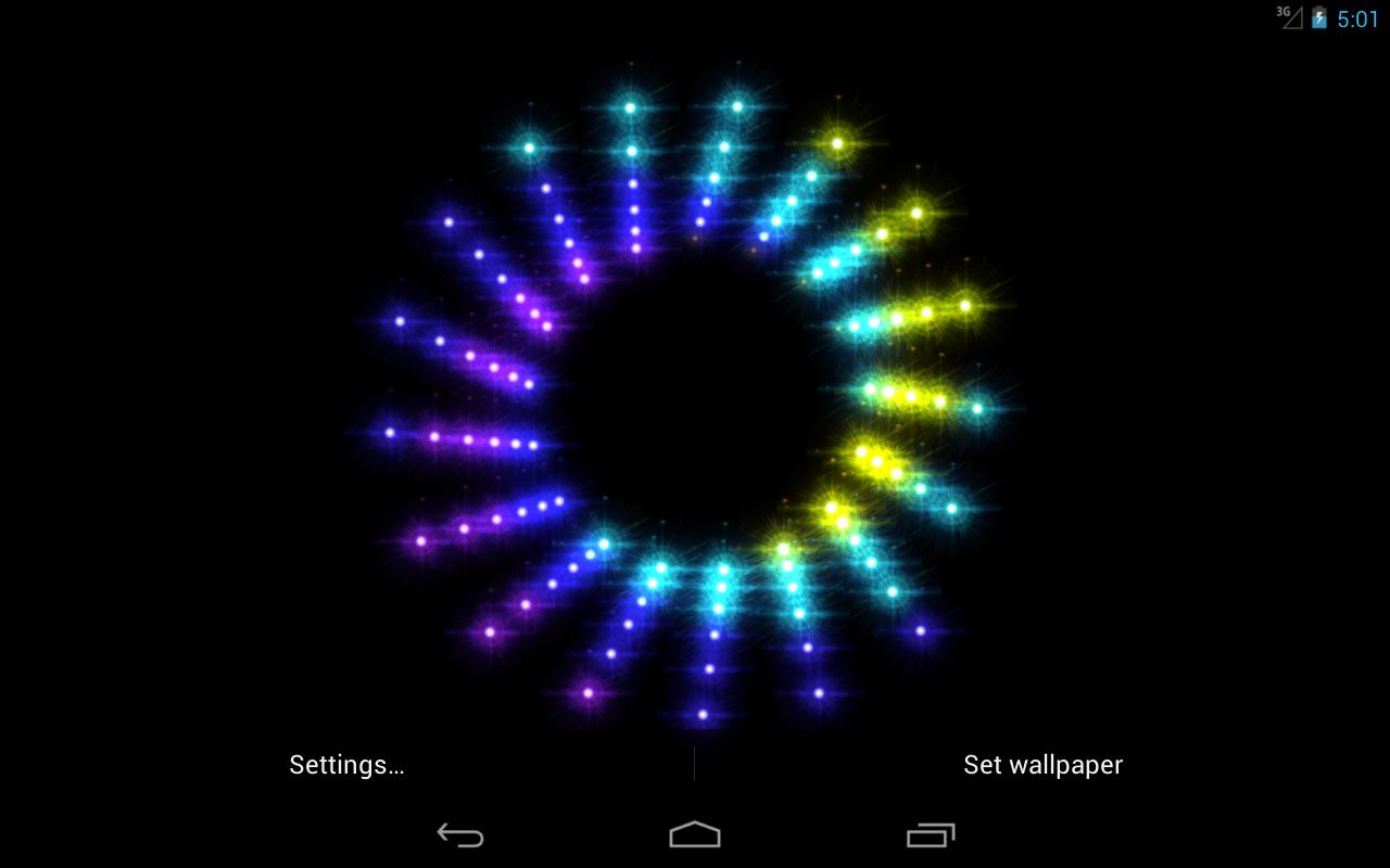 sparkling live wallpaper screenshot - Sparkling Christmas Lights