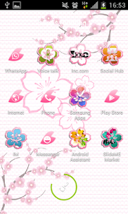 粉紅色的櫻花GO主題