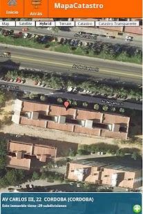 Catastro España: miniatura de captura de pantalla