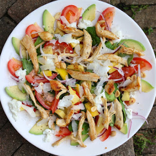Shredded Chicken, Mango and Avocado Salad.