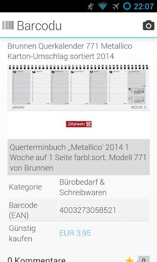 Barcodu - Barcodechecker