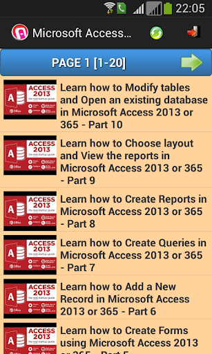 Tutorial for MS Access