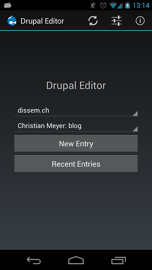 Drupal Editor - screenshot