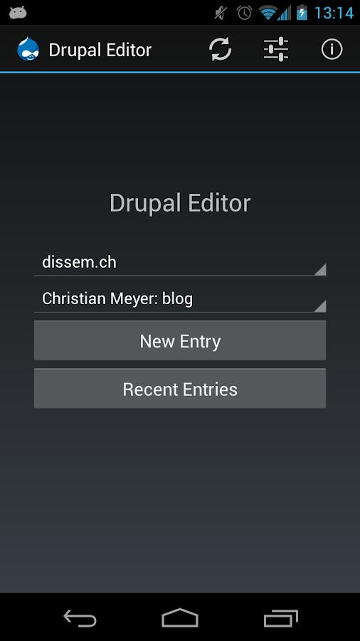 Drupal Editor- screenshot