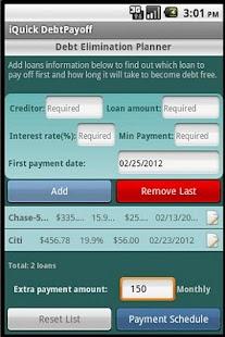iQuick Debt Payoff- screenshot thumbnail