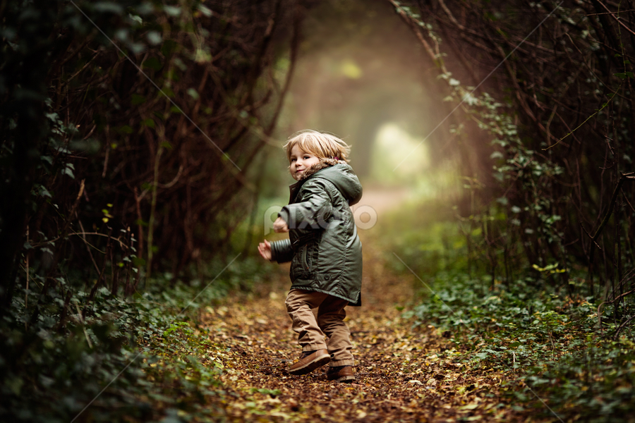 Running through the Woods by Claire Conybeare - Chinchilla Photography - Babies & Children Toddlers ( renewal, green, trees, forests, nature, natural, scenic, relaxing, meditation, the mood factory, mood, emotions, jade, revive, inspirational, earthly )