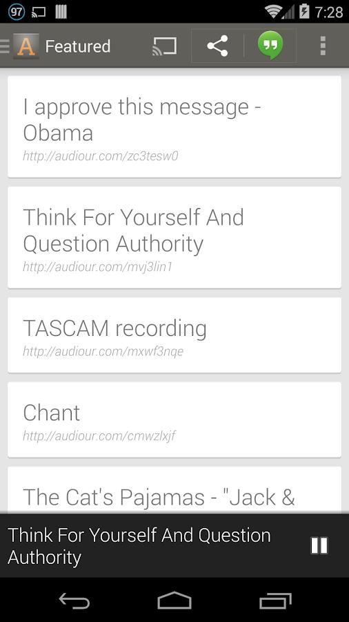 Audiour for Chromecast (Beta) - screenshot