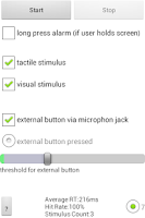 Screenshot of Mobile Detection Task MDT