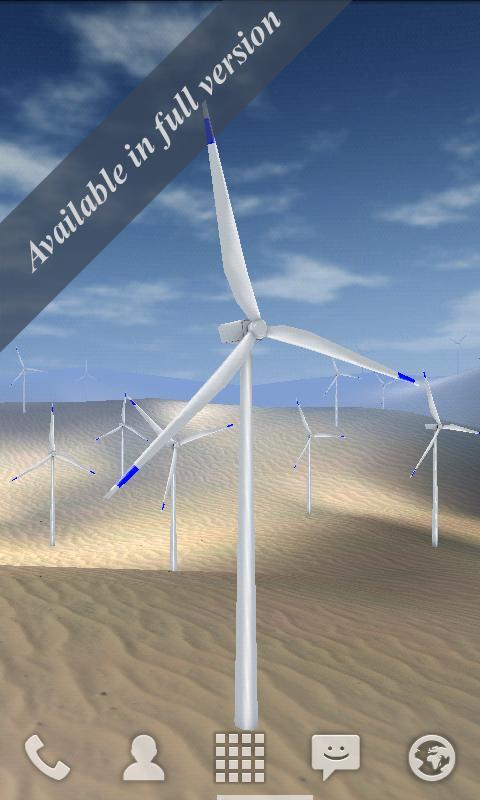 Wind Turbines 3D Live Wallpaper Free- screenshot