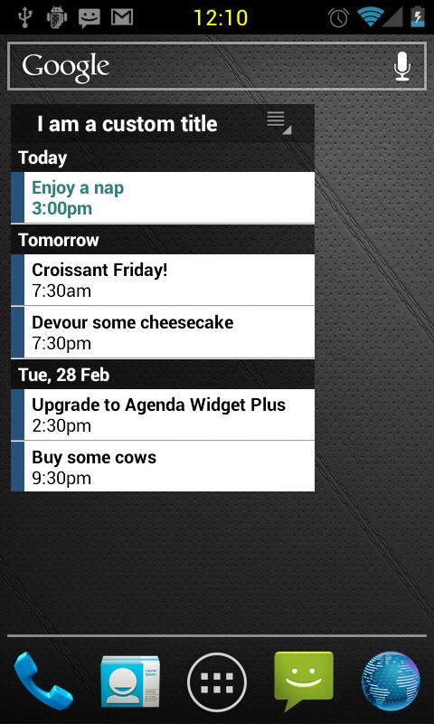 Agenda Widget Plus - screenshot