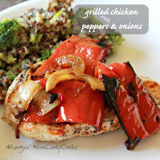 Grilled Chicken With Onions and Peppers