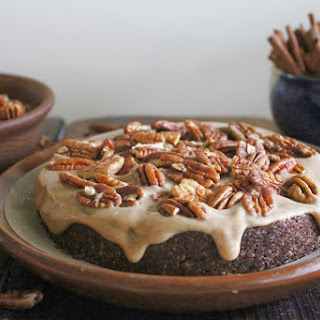 Raw Vegan Chocolate Caramel Pecan Cake