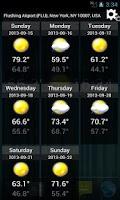 Screenshot of 14 days Transparent Weather °F