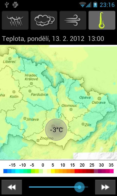 Předpověď počasí - Aladin- screenshot