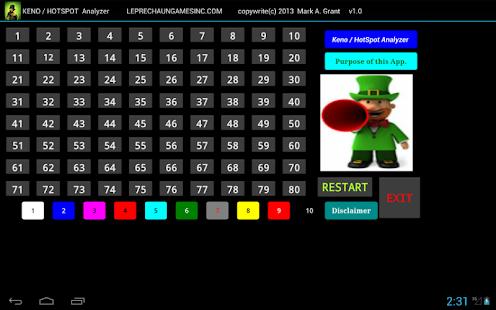 four kings casino keno numbers