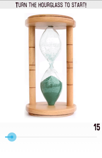 Realistic hourglass timer