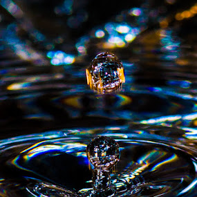 Water drop by Patrick Provencher - Abstract Water Drops & Splashes ( water drop )
