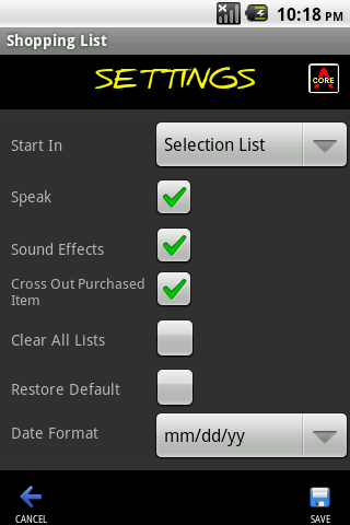 Shopping List Maker- screenshot