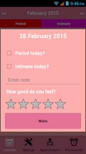 Menstrual Calendar - screenshot thumbnail