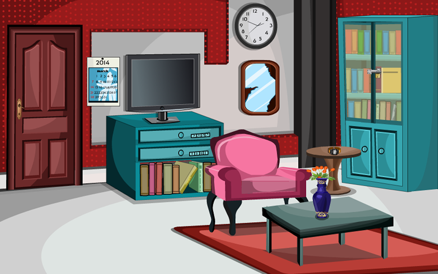 Escape game red living room android apps on google play for Living room 94 game