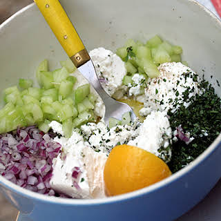 Joanne Weir's Cucumber and Feta Salad.