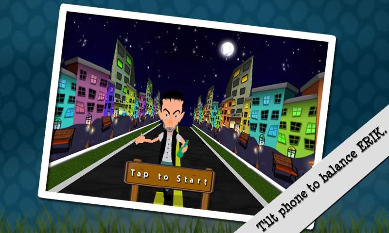 Crazy Drunk Man: Running Game - screenshot