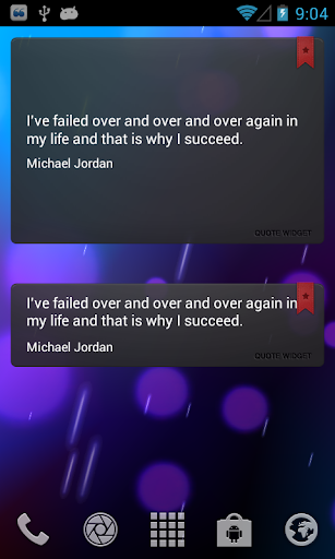 Android quote widget