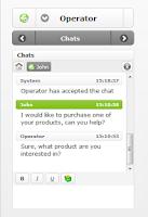 Screenshot of LiveZilla