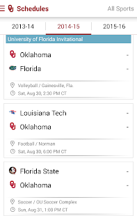 SoonerSports2Go - screenshot thumbnail