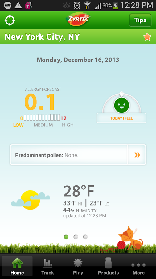 ZYRTEC® AllergyCast - screenshot