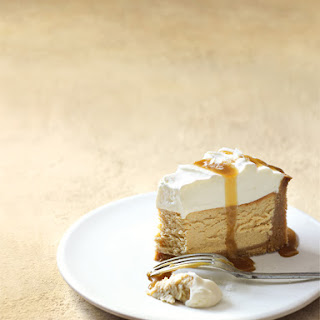 Salted Caramel And Vanilla Baked Cheesecake