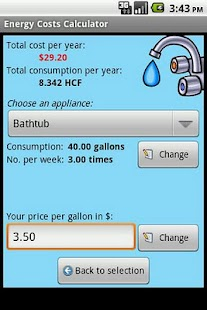 Energy Costs Calculator- screenshot thumbnail