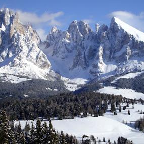 WINTER DOLOMITES (VAL GARDENA) by Riccardo Schiavo - Landscapes Mountains & Hills (  )