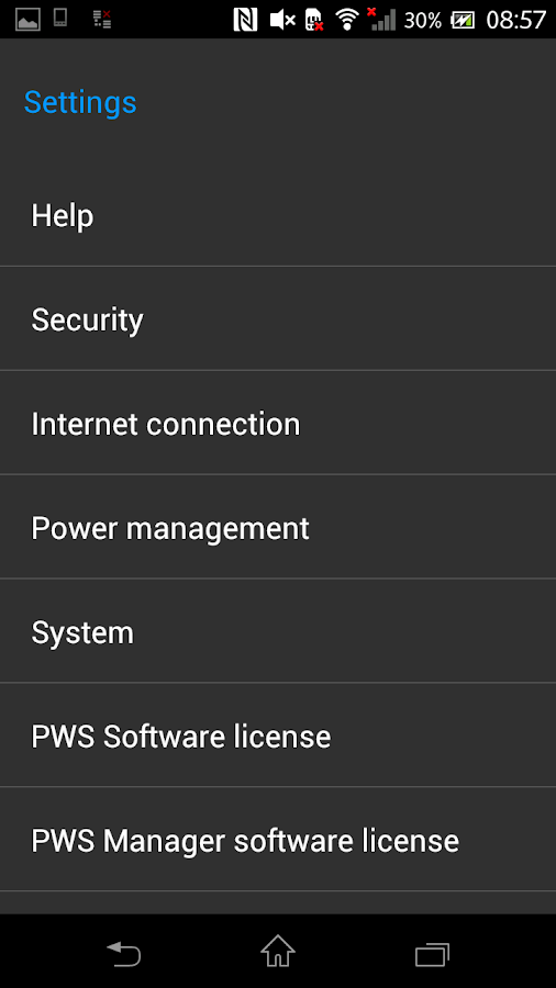 PWS Manager- screenshot