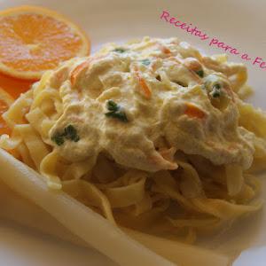 Orange Tagliatelle with Ricotta Sauce