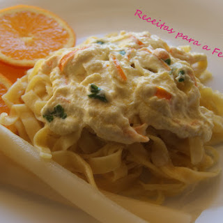 Orange Tagliatelle with Ricotta Sauce.