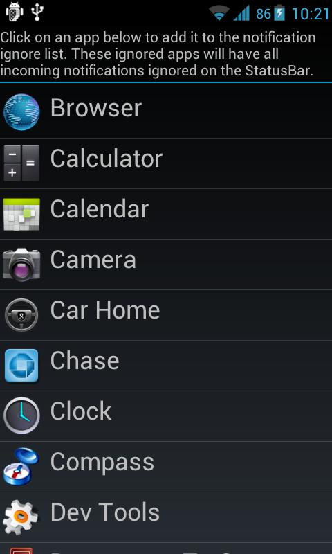 Jelly Bean StatusBar Pro- screenshot