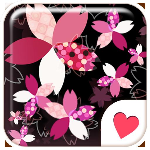 かわいい春のおしゃれ壁紙★幻想的なネオンピンクの夜桜 個人化 App LOGO-硬是要APP