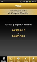 Screenshot of Gold Price Calculator Live