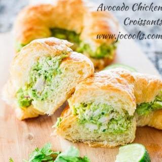 Avocado Chicken Croissants.