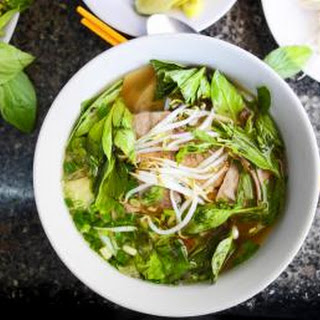 Thai Vegetable Noodle Soup with Tofu.
