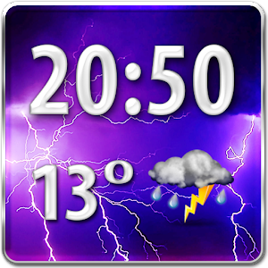 Storm Weather Clock Widget