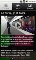 Screenshot of Deutsche Bank Art works