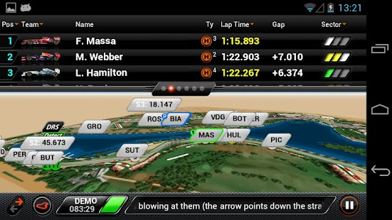 F1 2013 Timing App - Basic - screenshot thumbnail